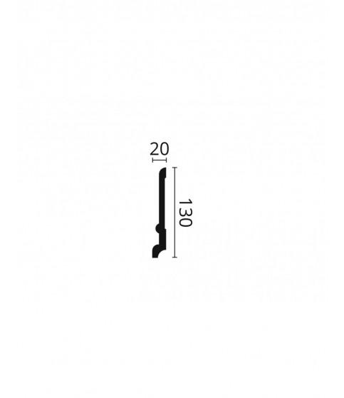 Plinta polimer dur Wallstyl FD21 130x20x2000