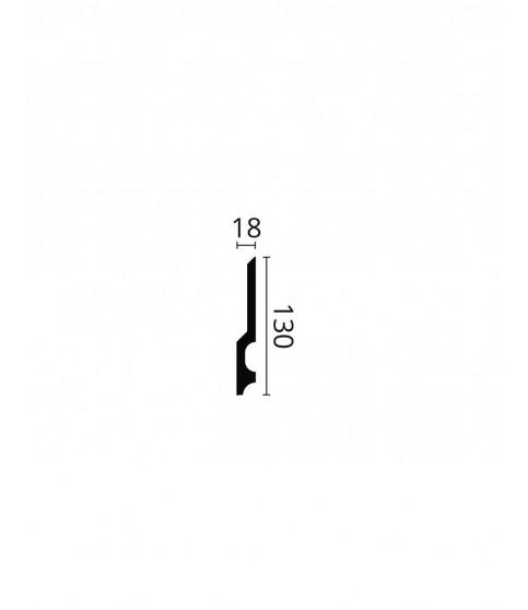 Plinta polimer dur Wallstyl FD22 130x18x2000