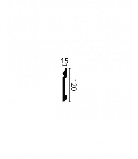 Plinta polimer dur Wallstyl FO1 120x15x2000