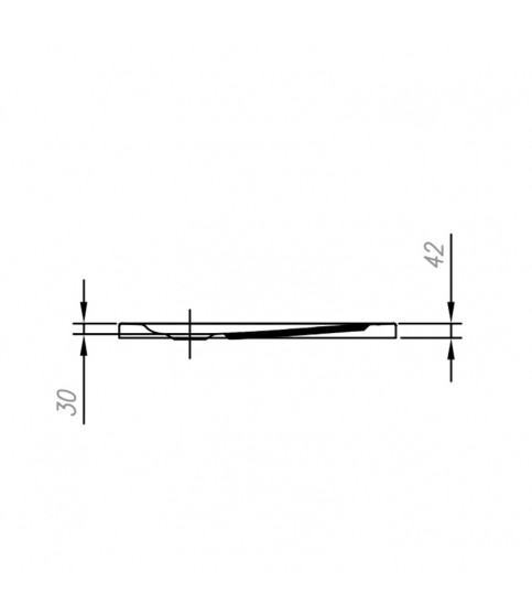 Cadita de dus patrata KolpaSan, Evelin, pentru inzidire, 90 x 90 x 4.2 cm, acril