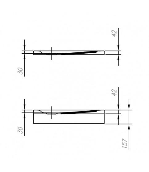 Cadita de dus KolpaSan, Evelin Q, cu masca si picioare incluse, 90 x 90 cm, acril