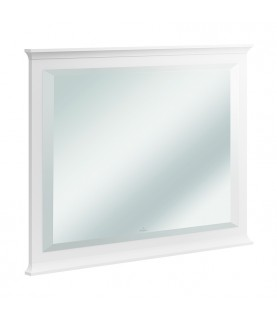 Oglinda Villeroy & Boch, Hommage, dreptunghiulara, 100 x 74 cm, alb