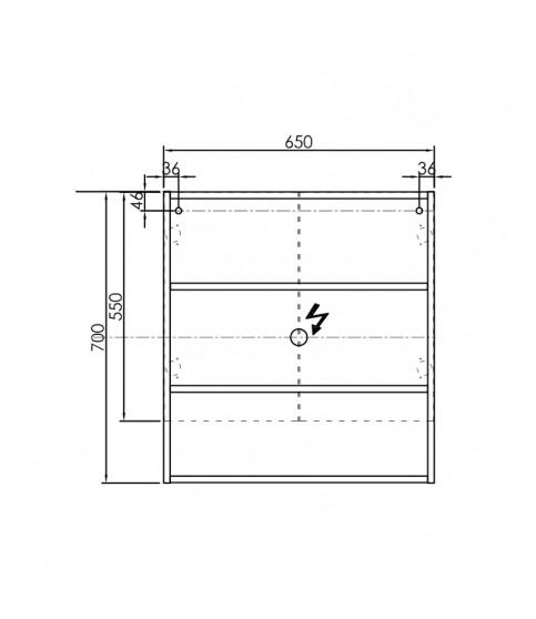 Oglinda cu dulap KolpaSan, Evelin, 65x14x70 cm, alb