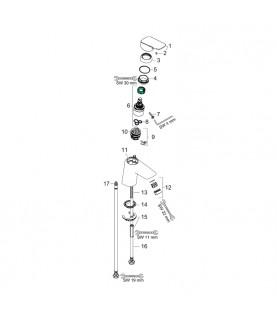 Baterie lavoar  fara ventil Hansgrohe, Logis, crom