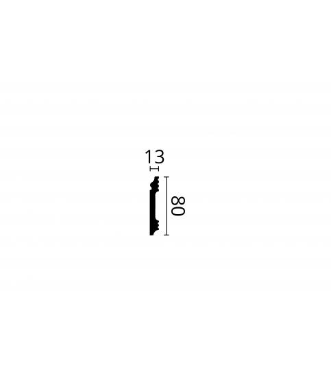 Plinta parchet alba polimer dur Wallstyl FL1 80x13x2000