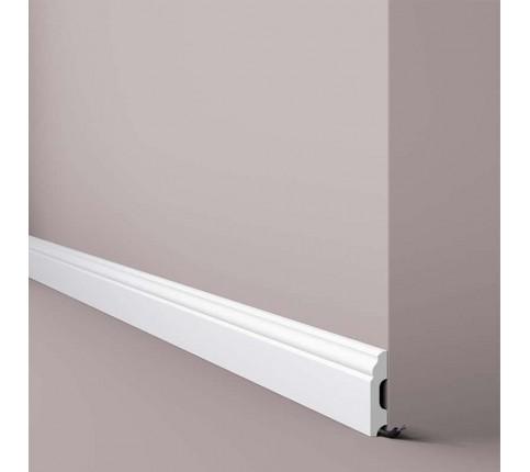 Plinta alba parchet decorativa polimer dur Wallstyl FB1 60x13x2000