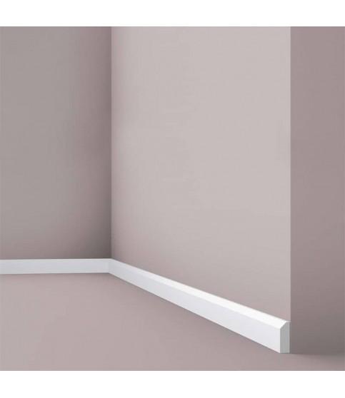 Plinta decorativa parchet alba polistiren dur Wallstyl FT1 38x13x2000
