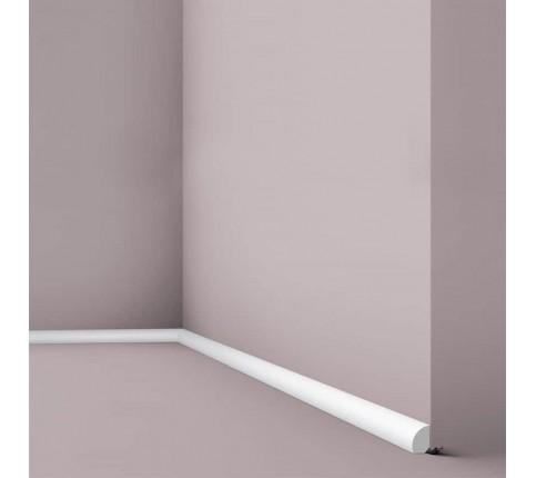 Plinta decorativa parchet alba polistiren dur Wallstyl FL6 19x12x2000