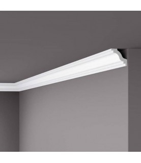 Cornisa de tavan decorativa polistiren dur Wallstyl WT6 40x40x2000