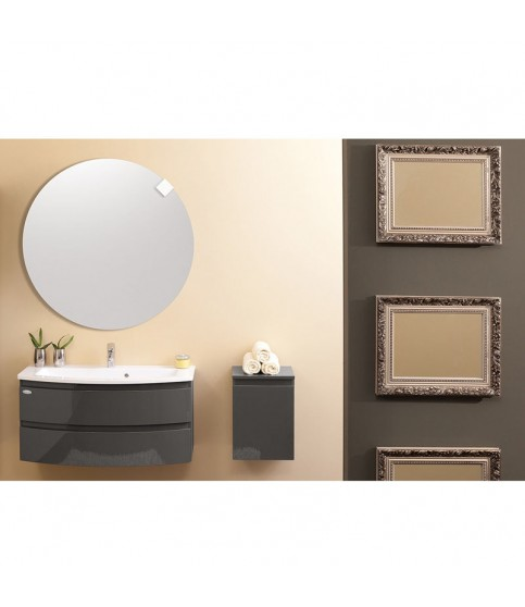 Set lavoar + mobilier KolpaSan, Iman, 80 cm, antracit