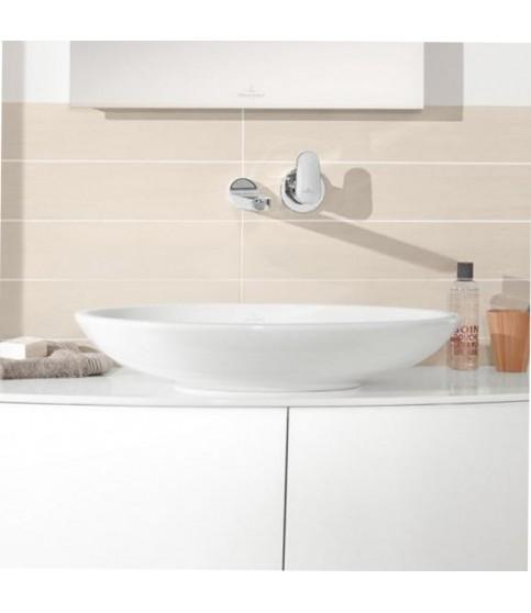 Lavoar pe blat Villeroy & Boch, Loop & Friends, oval, 63 cm cu preaplin alb