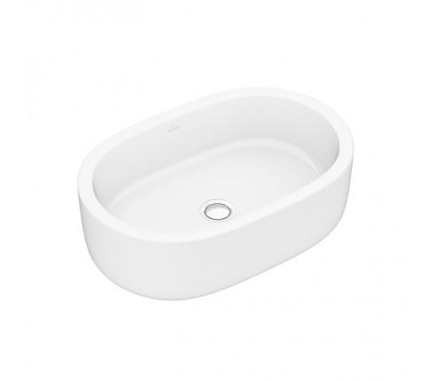 Lavoar alb pe blat oval VILLEROY si BOSH, ARHITECTURA, ALPIN 60x40