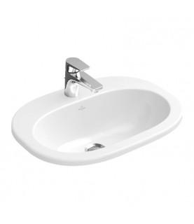 Lavoar incastrat Villeroy&Boch O Novo, oval, 56 cm alb alpin