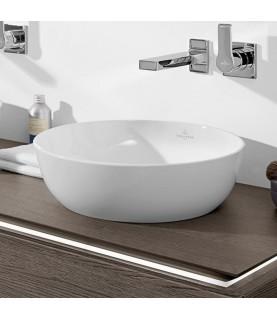 Lavoar pe blat Villeroy & Boch, Artis, rotund, 43 cm, alb, Titanceram