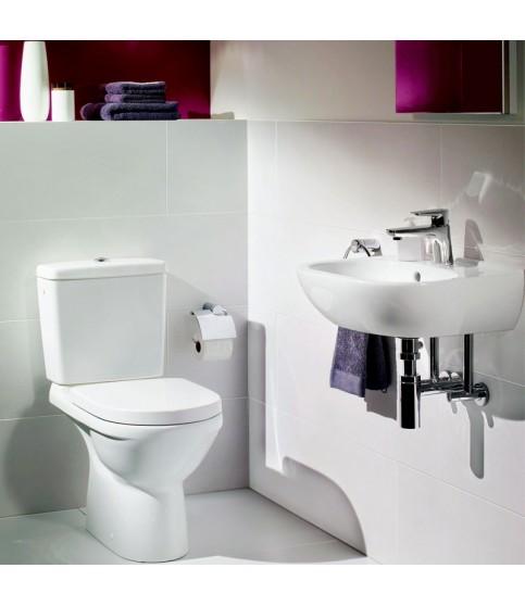 Vas WC monobloc stativ Villeroy & Boch, O.Novo, rotund, direct flush, alb alpin