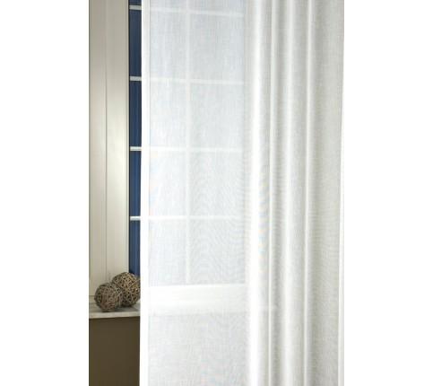 Perdea Sable LARA 01 alb 300 cm + fir de plumb