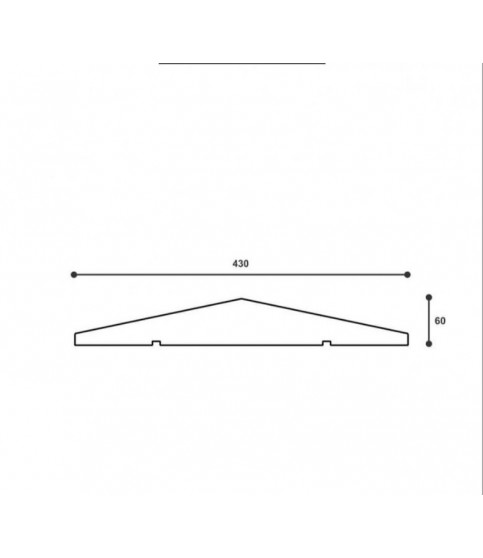 Capac De Gard ST106 430 X 60 X 2000