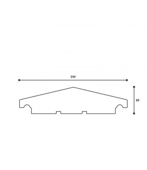 Capac De Gard ST107 244 X 60 X 2000