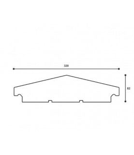 Capac De Gard ST108 320 X 82 X 2000