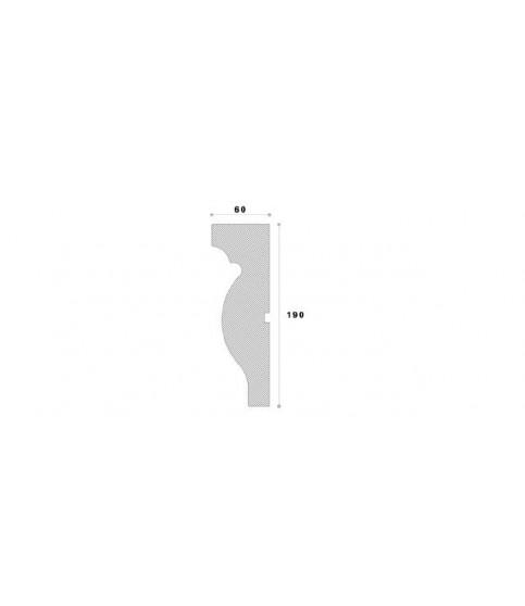 Cornisa Decorativa Exterior NC160 190X60X2000