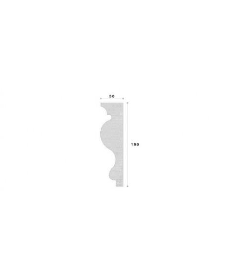 Cornisa Decorativa Exterior NC103 190X50X2000