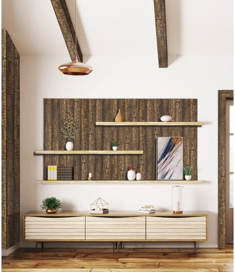 Barna/Grinda Imitatie Lemn Decorativa Dark Oak 115x130x3000