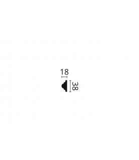 Brau Perete Decorativ Poliuretan Z10 flex 40x20x2000