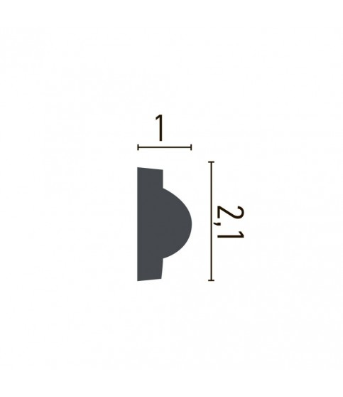 Brau Alb Decorativ Poliuretan CR954 2.1X1X200