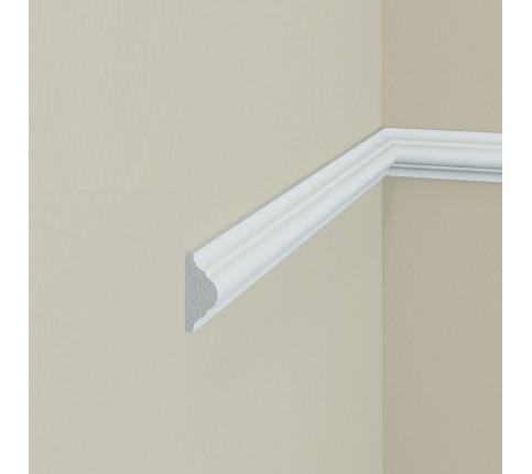 Brau alb decorativ polimer rigid B1 2.3X1X200