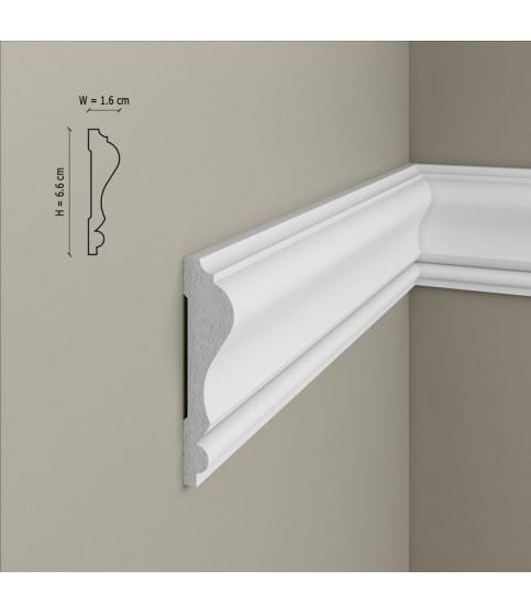 Brau Alb Decorativ Polimer Rigid B11 6.6X1.6X200