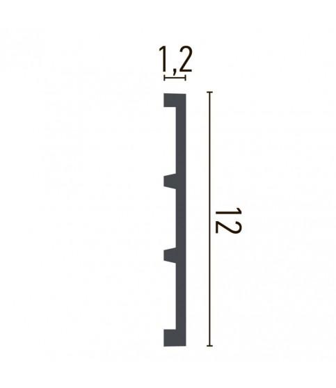 Brau Alb Decorativ Poliuretan CR957 12X1.2X200
