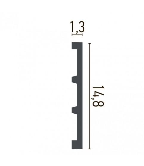 Brau alb decorativ poliuretan CR958 14.8X1.3X200