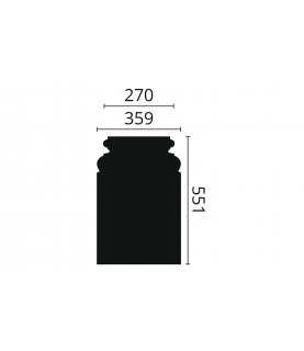 Baza alba coloana decorativa Arstyl PB1 551x85x359