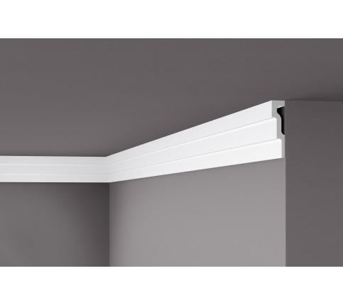 Bagheta alba decorativa Nomastyl M1 120x30x2000