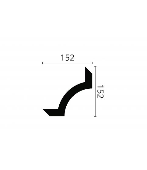 Coltar Alb Decorativ Arstyl SP2-5 152x152