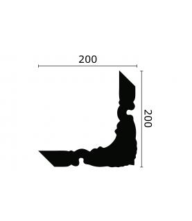 Coltar Alb Decorativ Arstyl Z101 40x200X200