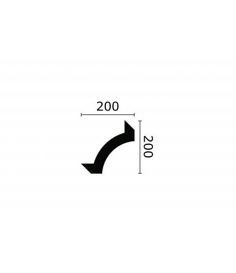Coltar Alb Decorativ Arstyl Z102 40x200X200