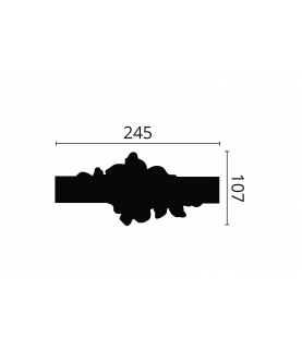 Coltar Alb Decorativ Arstyl Z104 40x245X107