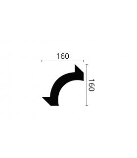Coltar Alb Decorativ Nomastyl O16 160x160