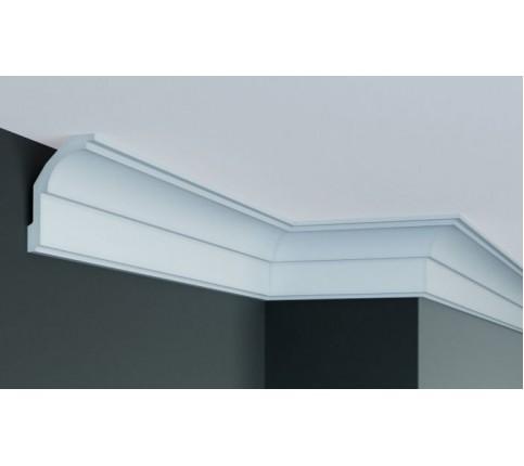 Cornisa alba decorativa poliuretan P872F 9.7x6.3x244