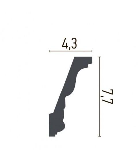 Cornisa Alba Decorativa Poliuretan C728 7.7x4.3x200