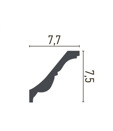 Cornisa Alba Decorativa Poliuretan C731F 9.2x9.2x244