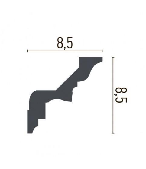 Cornisa Alba Decorativa Poliuretan C738 8.5x8.5x200