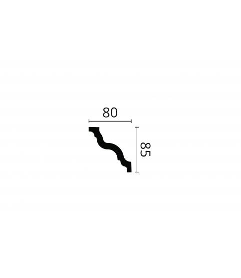 Cornisa alba decorativa polistiren GR 85x80x2000