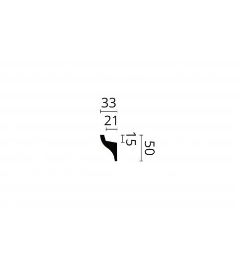 Cornisa alba decorativa polimer dur IL3 50x33x2000