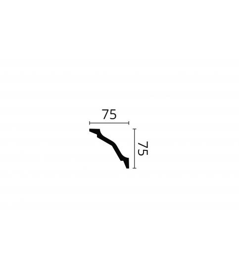 Cornisa alba decorativa polimer dur WT26 75x75x2000