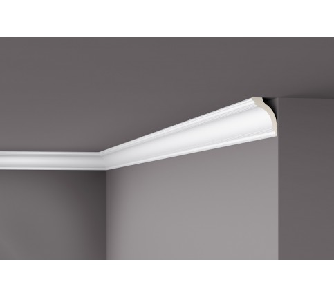 Cornisa alba decorativa poliuretan Z1220 75x50x2000