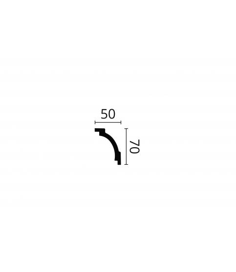 Cornisa alba decorativa poliuretan Z16 70x50x2000