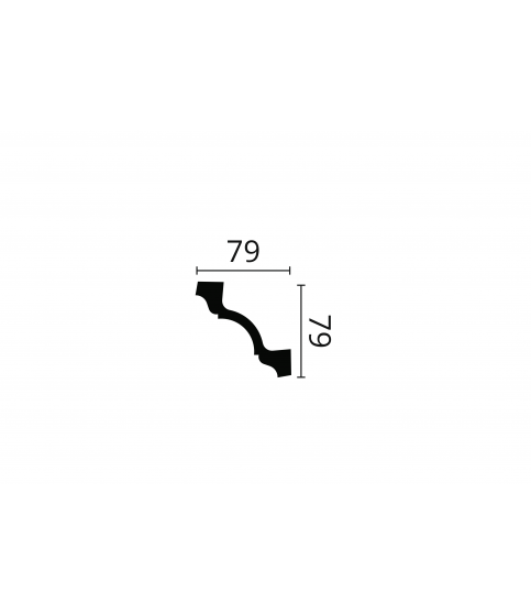 Cornisa alba decorativa poliuretan Z19 79x79x2000