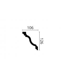 Cornisa alba decorativa poliuretan Z22 126x106x2000